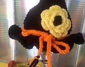 Newborn Halloween Witch's Crocheted Hat,Baby Girl Hats,Halloween Hats,Newborn Hats,Autumn Hat