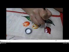 Painting on Fabric Footsteps Photo: Painting on Fabric Videos Tulip Painting, One Stroke Painting, Fabric Painting, Painting & Drawing, Fabric Paint Shirt, Paint Shirts, Acrylic Painting Techniques, Painting Videos, Bed Sheet Painting Design