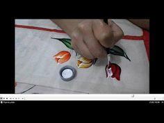 Pintando tulipas em tecido | Cantinho do Video