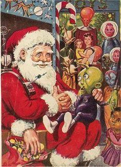 Science Fiction Christmas Art: Hillman Nostalgia Christmas