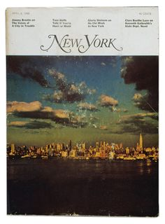 The first issue of New York magazine (April 8, 1968). Designed by the great Milton Glaser.