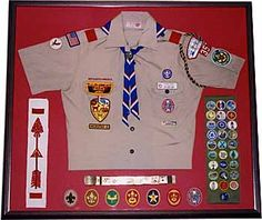 How to create a Scouting memorabilia display to commemorate your son's years as a Cub Scout, Boy Scout, or Venturer -- Scoutingmagazine.org