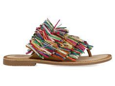 Papuci de la Gioseppo cu franjuri pline de culoare va pun in valoare intreaga tinuta. Material exterior: material din piele si material textil. Material interior: material din piele. Sandals, Interior, Shoes, Fashion, Moda, Shoes Sandals, Zapatos, Indoor, Shoes Outlet