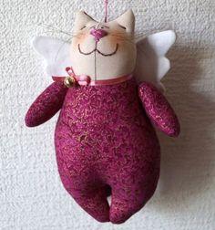 ❤ Szárnyas repülő macska angyal plüss játék (szabásmintával) ❤Mindy - kreatív ötletek és dekorációk minden napra