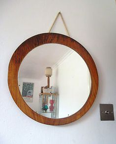 Mid century modern mirror - Paint it black for the living room.