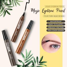 [Latest design] This is a new product of eyebrow pencil. Unique four-tip nib design, engraving eyebrows like an eyebrow pencil. [Beauty] The miniature eyebrow tattoo eyebrow pencil is like natural growth. Pencil Design, Microblading Eyebrows, Eyebrow Tattoo, Eyebrow Pencil, Le Point, Brown And Grey, Smudging, Makeup Looks, How To Apply