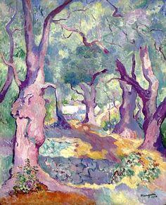 French Impressionist Henri Manguin (1874 - 1949). J'aime particulièrement l'ambiance qui s'y dégage, l'atmosphère douce et sereine, c'est magnifique cette harmonie de couleur, c'est ce qui rend ce paysage onirique si unique.