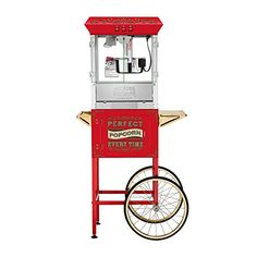 Great Northern 10 oz Perfect Popper Popcorn Machine with Cart  Red -- You can get more details by clicking on the image.  This link participates in Amazon Service LLC Associates Program, a program designed to let participant earn advertising fees by advertising and linking to Amazon.com.