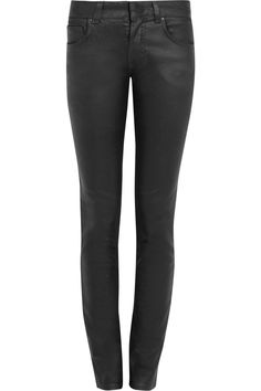 Coated mid-rise skinny jeans by Valentino