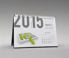 Desk Calendar 2015 Template KB10-W7 on Behance