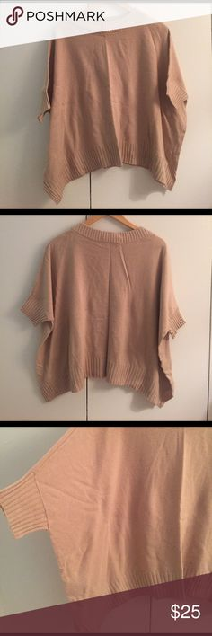 Ann Taylor wool blend slouchy sweater Warm and cozy. Perfect neutral. Relaxed fit with a dolman-esque sleeve. Tags removed. Don't recall if I ever wore it. Wool blend. Size xs/s Ann Taylor Sweaters Crew & Scoop Necks