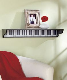 Wooden Musical Themed Wall Shelf is a harmonious addition to a music lover's room or den. It provides extra storage as well as working as a decor piece. Use the