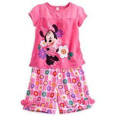 Minnie Mouse Summer Sleep Set -  Size 4 NWT Girls Disney  #Disney #PajamaSet