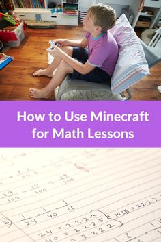 Math Lessons Using Minecraft – Show Your Work! Find out how a mom of a Minecraft kid found a way to incorporate use playtime for math lessons. (affiliate) Educational Activities For Kids, Fun Learning, Learning Activities, Minecraft Activities, Minecraft Challenges, Steam Activities, Learning Tools, Math For Kids, Science For Kids