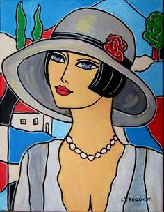 laurence-treizenem-femme-und-chapeau-laurence-treizenem-femme-und-chapeauacryl/ - The world's most private search engine Cubism Art, Silhouette Clip Art, Art Drawings For Kids, Arte Pop, Acrylic Art, Portrait Art, Face Art, Vintage Art, Modern Art