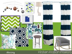 Navy and Green Nursery - baby boy nursery ideas Baby Boy Rooms, Baby Boy Nurseries, Nursery Boy, Baby Room, Navy Nursery, New Baby Boys, Baby Baby, Kid Spaces, My Living Room
