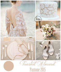 Toasted almond - Pantone 2015 | more on www.bridetips.ru