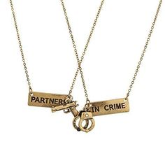 Lux Accessories Partners In Crime Handcuff Hand Cuff Gun BFF Best Friends Forever Matching Long Distance Necklace Set *** Very nice of your presence to have dropped by to visit the picture. (This is an affiliate link) Bff Necklaces, Best Friend Necklaces, Best Friend Jewelry, Matching Necklaces, Bracelets, Best Friend Outfits, Best Friend Gifts, Gifts For Friends, Best Friend Things