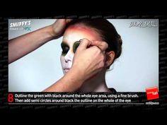▶ Sugar Skull Face Painting Make-up Tutorial - YouTube