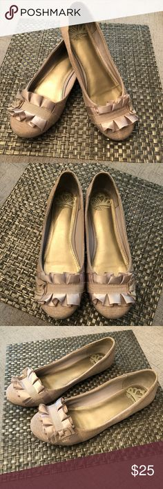 Lucky Brand Aviee Leather Flats Elastic Lace Up Look Pointed Toe Sz 9.5~ Pewter Suitable For Men Women And Children