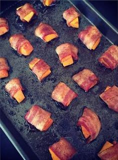 My recipe video for bacon wrapped butternut squash. Soooo good.