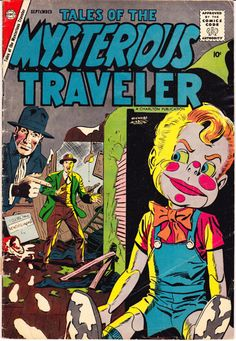 Tales of the Mysterious Traveler 9 Charlton Comics by LifeofComics Steve Ditko 1958 Evil Doll Horror Suspense Tension VG #halloween2015 #comicbooks