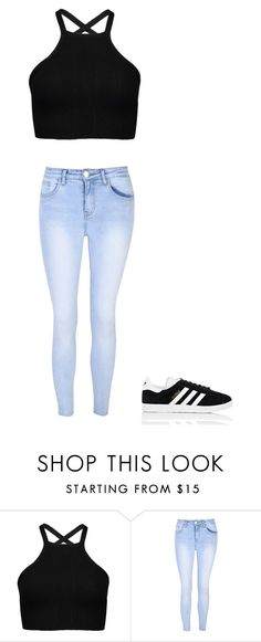 """""""idek"""" by maliyah-wbms on Polyvore featuring Glamorous and adidas"""