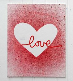 Love Silhouette Valentine's Day Card - SUPER easy...I must try! Swap the heart mask with a tree shape for Christmas!