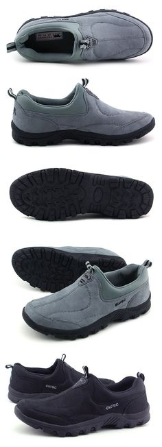 Suede Soft Sole Breathable Slip On Sport Casual Shoes For Men