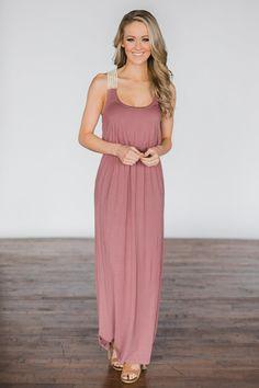 9d78378974 Gone Coastal ~ Mauve Crochet Racerback Maxi Dress – The Pulse Boutique  Racerback Maxi Dress