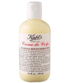 kiehl's creme de corps. best body moisturiser for dry skin