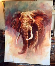 : 30 Beautiful and Hyper Realistic Acrylic Paintings for your inspiration acrylic animalPainting Beautiful birdPainting blackandwhitePainting catPainting christmasPainting coolPainting disneyPainting easyPainting HyperRealistic Inspiration Paintingcolors Watercolor Art, Animal Art, Animal Drawings, Amazing Paintings, Watercolor Elephant, Cool Paintings, Animal Paintings, Elephant Painting, Elephant Wall Art
