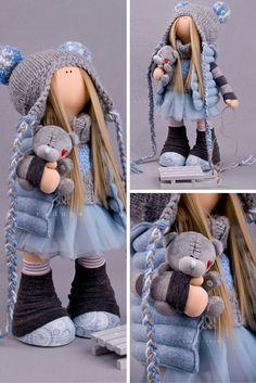Tilda doll handmade, fabric doll, cloth doll, textile doll