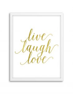 Free Printable Live Laugh Love Art from @chicfetti - easy wall art diy