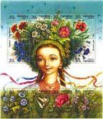 Ukrainian girl with a vinok- traditional headress
