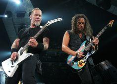 James Hetfield and Kirk Hammett by Heather Byrd/The Tennessean
