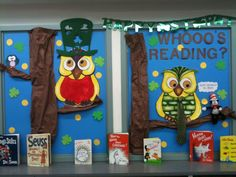March bulletin board for the classroom - books