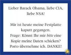 Liebe CIA...