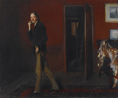 "John Singer Sargent (American, 1856–1925). Robert Louis Stevenson and His Wife, 1885. Crystal Bridges Museum of American Art, Bentonville, Arkansas | This work is in our ""Sargent: Portraits of Artists and Friends,"" on view through October 4, 2015."