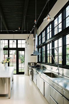 Building transformed into industrial home in Portland by Emerick Architects