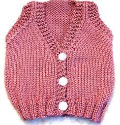 Baby Vest Knitting Pattern - SMALL - PDF - $4