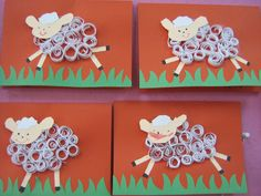 schaapje knutselen met opgerold papier