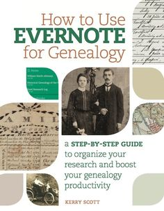 Organize your family tree research with this step by step guide to using Evernote.   How to Use Evernote for Genealogy book | ShopFamilyTree | ShopFamilyTree