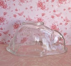 Vintage English Glass Rabbit Mould by PavlovaandFox on Etsy, £11.95
