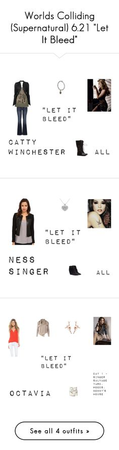"""""""Worlds Colliding (Supernatural) 6.21 """"Let It Bleed"""""""" by mysticfalls1997 ❤ liked on Polyvore featuring moda, maurices, ISABEL BENENATO, Rebecca Taylor, Carmen Marc Valvo, Rampage, Myne, Shaun Leane, Rick Owens ve GUESS"""