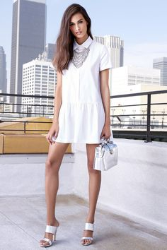 Drop of the Hour White Shirt Dress at Lulus.com!