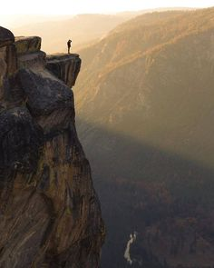 Taft Point at sunset in Yosemite National Park, CA