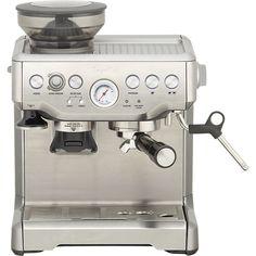 Breville® Barista Espresso Machine in Espresso Makers   Crate and Barrel
