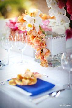 Modern mediterranean Table Top~ Ceremony Magazine 2012 | Karen Tran Blog