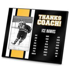 Hockey Personalized Photo Frame Hockey Team Roster